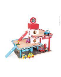 Janod - Garage Met Pompstation Speelset