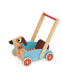 Janod - Crazy Doggy - Houten Loopwagen