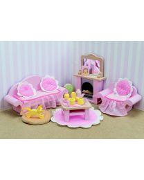 Le Toy Van - Daisylane - Roos salon - Voor poppenhuis