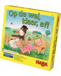 Haba - Op De Wei, Klaar, Af! - Gezelschapsspel