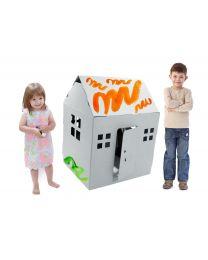 Paperpod - Kartonnen Speelhuis Wit