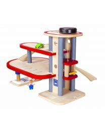 Plan Toys - Garageset 6611 - Hout