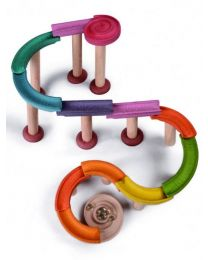 Plan Toys - Marble Run-Deluxe - Houten knikkerbaan