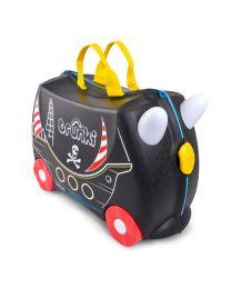 Trunki - Pedro Piraat - Ride-on en reiskoffer - Zwart