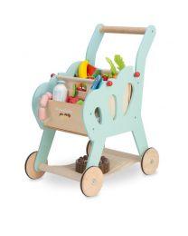 Le Toy Van - Houten Winkelwagentje met boodschappentas