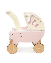 Le Toy Van - Houten Kinderwagen - Roze