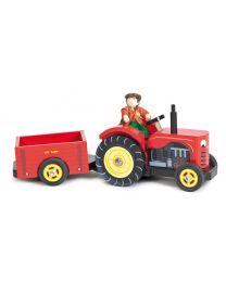 Le Toy Van - De tractor van de boerderij - Houten speelset