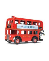 Le Toy Van - Londen bus met chauffeur - Houten speelset